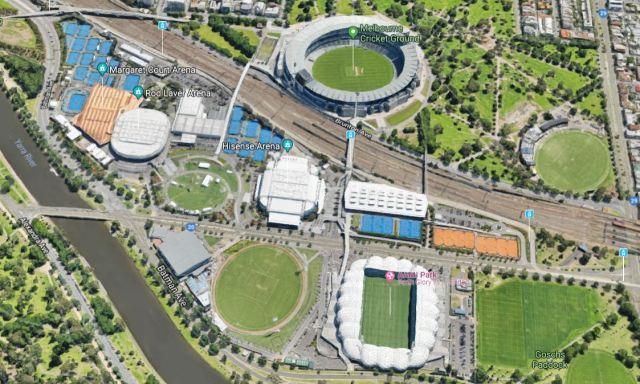 Melbouren Park Satellite Image